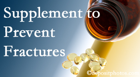 New Roads Chiropractic Center recommends nutritional supplementation with vitamin D and calcium to prevent osteoporotic fractures.