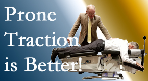 New Roads spinal traction applied lying face down – prone – is best according to the latest research. Visit New Roads Chiropractic Center.