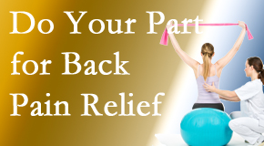 New Roads Chiropractic Center invites back pain sufferers to participate in their own back pain relief recovery.