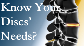 Your New Roads chiropractor knows all about spinal discs and what they need nutritionally. Do you?