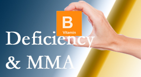 New Roads Chiropractic Center points out B vitamin deficiencies and MMA levels may affect the brain and nervous system functions.
