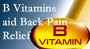 New Roads Chiropractic Center may include B vitamins in the New Roads chiropractic treatment plan of back pain sufferers.