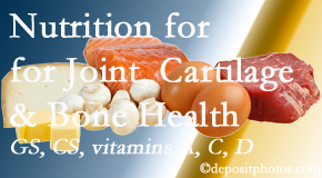 New Roads Chiropractic Center describes the benefits of vitamins A, C, and D as well as glucosamine and chondroitin sulfate for cartilage, joint and bone health.
