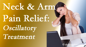 New Roads Chiropractic Center reduces neck pain and related arm pain by using gentle motion-based manipulation.