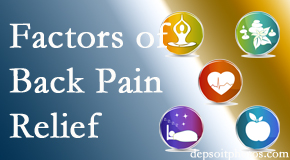 A few New Roads back pain relief factors New Roads Chiropractic Center evaluates are exercise, balance, and movement.