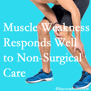 New Roads chiropractic non-surgical care often improves muscle weakness in back and leg pain patients.