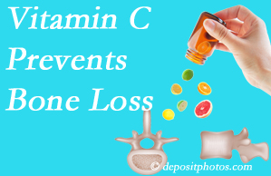 New Roads Chiropractic Center may suggest vitamin C to patients at risk of bone loss as it helps prevent bone loss.