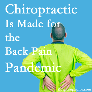 New Roads chiropractic care at New Roads Chiropractic Center is well-equipped for the pandemic of low back pain.