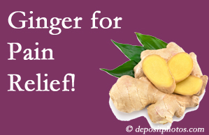 New Roads chronic pain and osteoarthritis pain patients will want to look in to ginger for its many varied benefits not least of which is pain reduction.