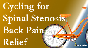 New Roads Chiropractic Center encourages exercise like cycling for back pain relief from lumbar spine stenosis.