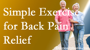 New Roads Chiropractic Center suggests simple exercise as part of the New Roads chiropractic back pain relief plan.