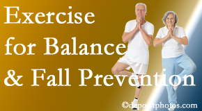 New Roads chiropractic care of balance for fall prevention involves stabilizing and proprioceptive exercise.