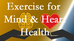 A healthy heart helps maintain a healthy mind, so New Roads Chiropractic Center encourages exercise.