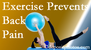 New Roads Chiropractic Center suggests New Roads back pain prevention with exercise.