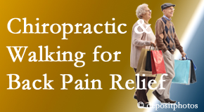 New Roads Chiropractic Center encourages walking for back pain relief along with chiropractic treatment to maximize distance walked.