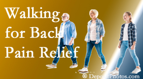 New Roads Chiropractic Center often recommends walking for New Roads back pain sufferers.