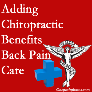 Added New Roads chiropractic to back pain care plans works for back pain sufferers.