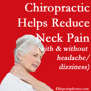 New Roads chiropractic care of neck pain even with headache and dizziness relieves pain at a reduced cost and increased effectiveness.