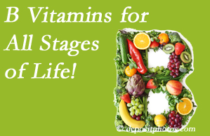 New Roads Chiropractic Center urges a check of your B vitamin status for overall health throughout life.