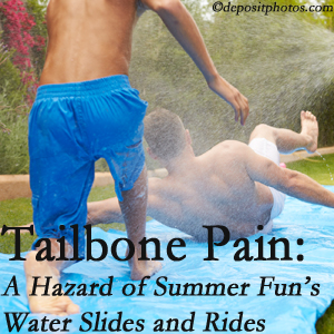New Roads Chiropractic Center uses chiropractic manipulation to ease tailbone pain after a New Roads water ride or water slide injury to the coccyx.