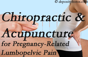 New Roads chiropractic and acupuncture may help pregnancy-related back pain and lumbopelvic pain.