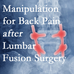 New Roads chiropractic spinal manipulation assists post-surgical continued back pain patients discover relief of their pain despite fusion.