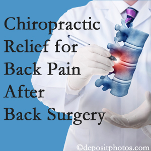 New Roads Chiropractic Center offers back pain relief to patients who have already undergone back surgery and still have pain.