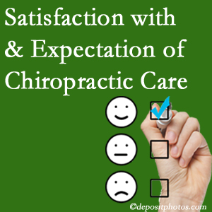 New Roads chiropractic care delivers patient satisfaction and meets patient expectations of pain relief.