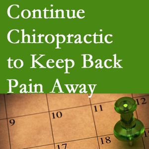 Continued New Roads chiropractic care fosters back pain relief.