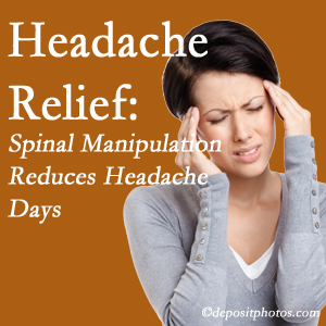 New Roads chiropractic care at New Roads Chiropractic Center may reduce headache days each month.